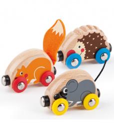houten dieren treinset  Hape