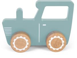 Tractor hout Little Dutch Blauw