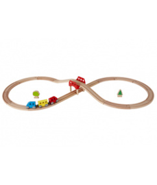houten acht treinset Hape