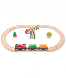 houten treinset Hape