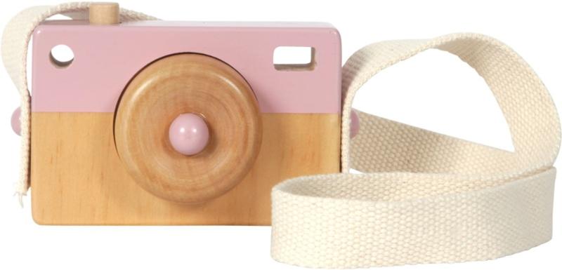 Camera hout Little Dutch Roze