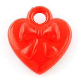 Rode hartjes met strik 50st