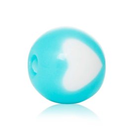 Turquoise hartje 20st