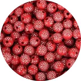 Glitter Dots red