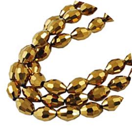 Glaskralen Facet shiny gold 70st