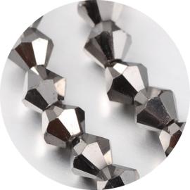 Glaskralen facet silver