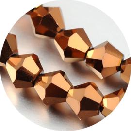 Glaskralen facet copper