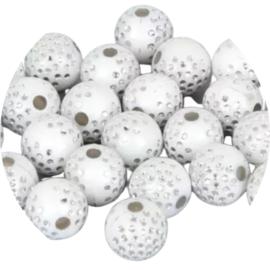 Glitter Dots white