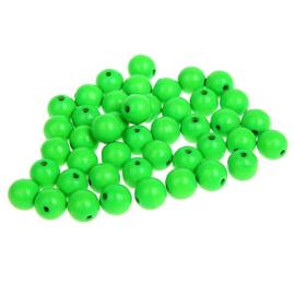 Kralen neon groen 50st
