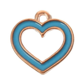 blauw hartje 4st