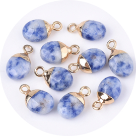 Bedels gold plated blue spot stone