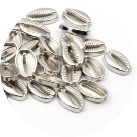 Acryl kauri schelpen zilver 10st