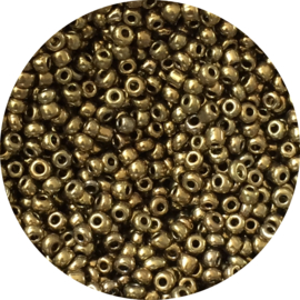 Rocailles metallic gold 3mm