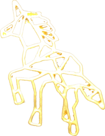 Gold plated unicorn
