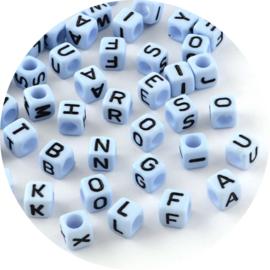 Letterkralen kubus blauw 100st