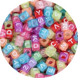Letterkralen kubus Candy 100st