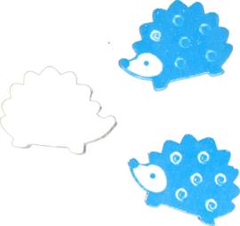 lief egeltje blauw