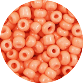 Kralen rocailles orange pink