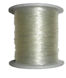 elastisch nylon draad 0,5mm of 1mm (per 5meter)