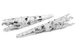 Filigrain kapje voor kralen zilver (42mm)