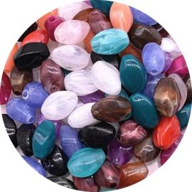Kralen acrylic stone mix 30st
