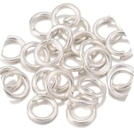 Ringetjes zilver 3mm 20st