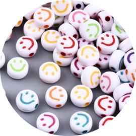 Letterkralen smiley multi color 25st