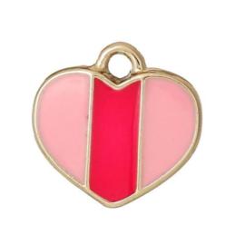 roze hartjes bedel 17st