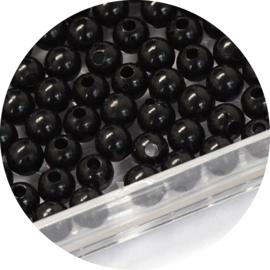 Kralen black acryl 50st