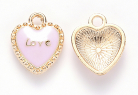 Gold pink heart 10st