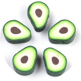 Kralen polymeer avocado 5st