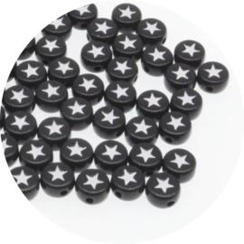 Letter sterretjes zwart 25st