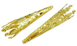 Filigrain kapje voor kralen goud (42mm)
