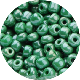 Kralen Rocailles groene erwtjes