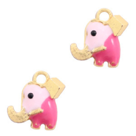 Elephant pink-gold