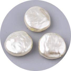 Kralen kunststof parels off-white 10st