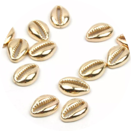 Acryl kauri schelpen goud 10st