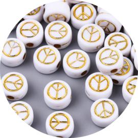 Letterkralen peace wit 25st