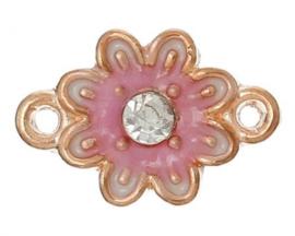 connector roze bloem