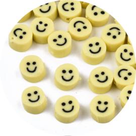 Kralen polymeer smiley 5st