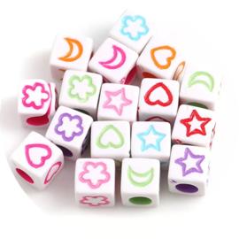Letterkralen kubus figuren