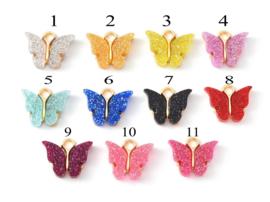Bedels glitter vlinder