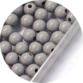 Kralen grey acryl 50st