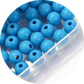 Kralen blue acryl 50st