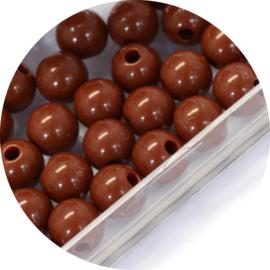 Kralen brown acryl 50st