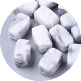 Kralen kunststof grey marble 10st