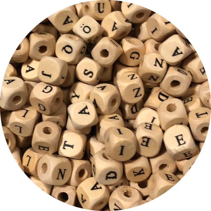 Houten letterkralen 100st (b-keus)
