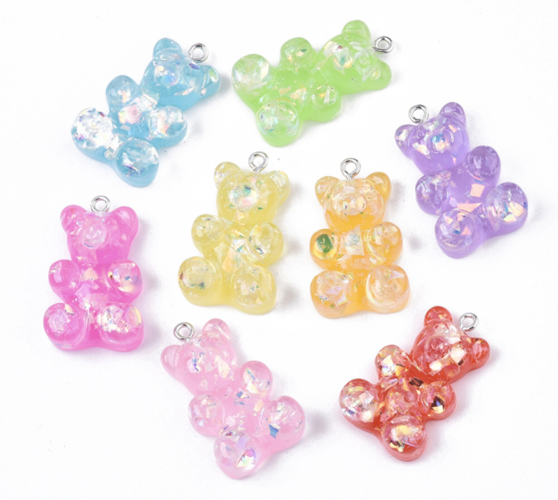 Bedels Gummy bear glitter XL 5st
