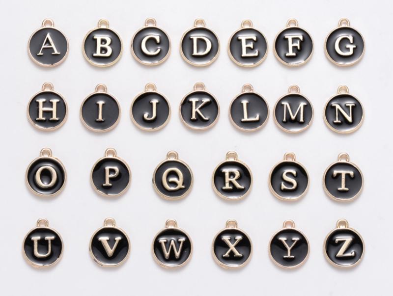 Alfabet bedels zwart 26st