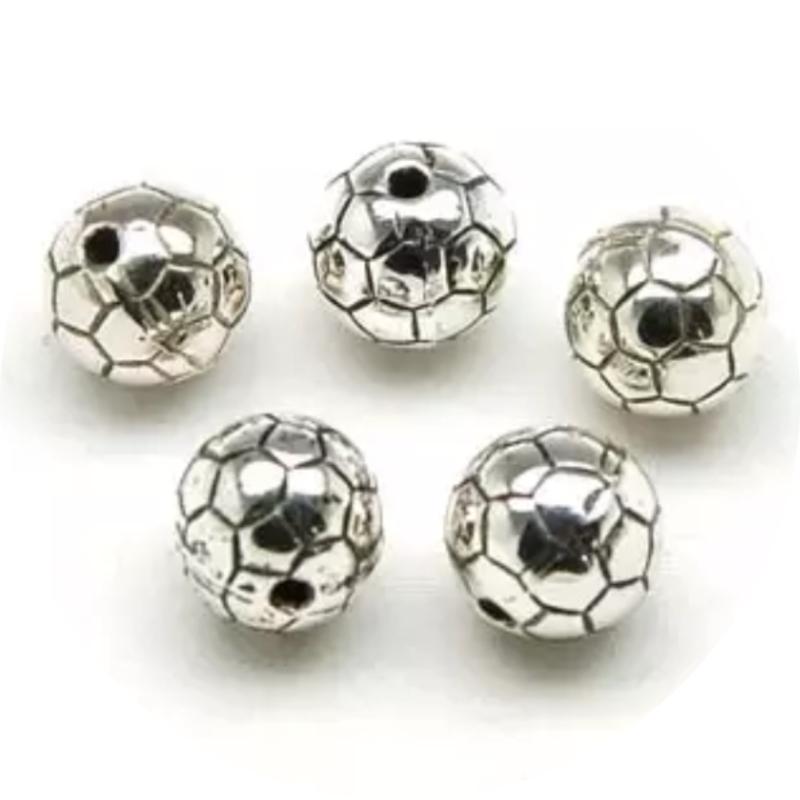 Voetbal zilverkleurig 10st